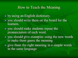 right meaning how to teach pronunciation ppt download