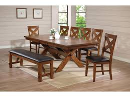 Bench Dining Room Table Set Dining Room Best 6 Piece Rubberwood Dining Set With Faux Marble