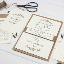 chinese wedding invitations uk bespoke alicia postcard wedding invitation by wildflower
