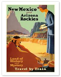 Arizona Travel Posters images Fine art prints posters new mexico and arizona rockies land jpg