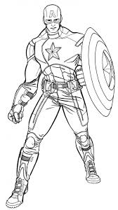 captain america coloring pages superheroes printable