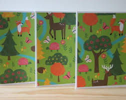 woodland card etsy