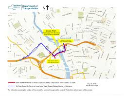 New York Map Rochester by City Of Rochester Nysdot Inner Loop Bridge Over Genesee River In