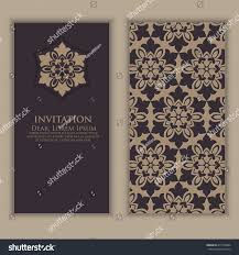 Business Invitation Cards Invitation Cards Ethnic Arabesque Elements Arabesque Stock Vector