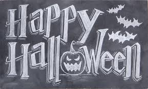 happy halloween chalk art sign chalk art signs pinterest