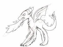 fire breathing dragon sketch by cookiecat17 on deviantart
