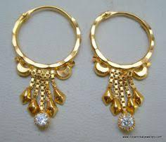 gipsy earrings 22k 91 6 gold import dubai india gipsy earrings left 4 52gr