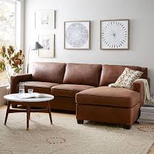 West Elm Henry Leather Sofa Build Your Own Henry Leather Sectional Pieces West Elm