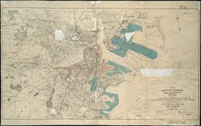 Old Boston Map by Map Of Boston Proper Charlestown South Boston And East Boston