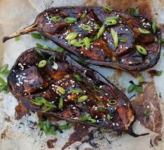 recettes cuisine japonaise aubergine rôtie marinée au miso et au miel recette centre