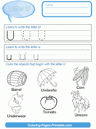 preschool letter writing practice