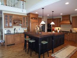 kitchen island with wood top black alder kitchen cabinets island country cabinets
