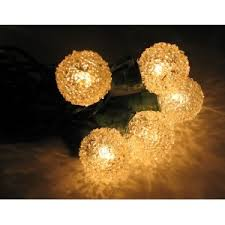 35ct sugar clear globe string light set on green wire lighting