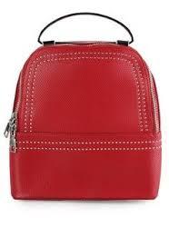 Tas Huer wanita tas backpack martin studded metal top handle backpack