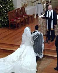 wedding dress chord the ritual of placing the 2 looped chord in a figure 8 shape