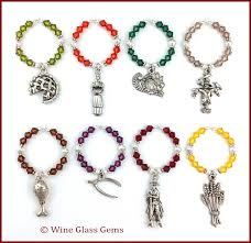 thanksgiving wine charms wine charms creative and etsy
