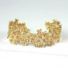 golden cuff bracelet images Flower cluster gold cuff bracelet home accessories furniture jpg