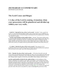 zechariah 14 commentary