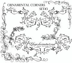 ornamental corners set 3 decorative photoshop brushes