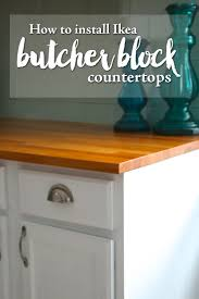 how to install ikea butcher block countertops u2014 weekend craft