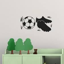 soccer ball sport shoe art wall sticker home decoration sport