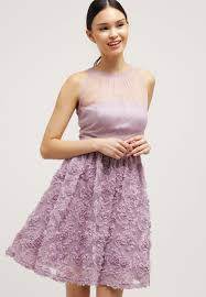 adrianna papell cocktail dress party light heather women