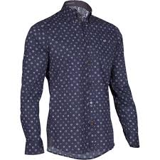 wiggle ted baker cogcog long sleeve roll sleeve shirt casual