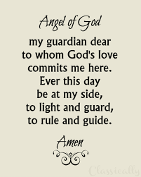 guardian angel prayer printable christian religion print
