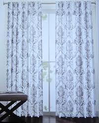 Window Treatment Hardware Medallions - tahari grey silver floral medallion 2pc window curtain panels