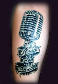 microphone tattoo thumb microphone tattoo rosa de saron by eder1985 on deviantart