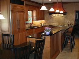 multi level kitchen island inspired black galaxy granite vogue cleveland traditional kitchen