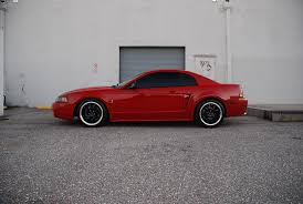 Red Mustang Black Wheels Red 1999 Cobra With Black Wheels And Chrome Lip Mustang Cobra Svt