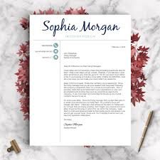 Recommended Font For Resume Creative Resume Template The Sophia