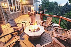 Deck Firepit Composite Deck With Pit