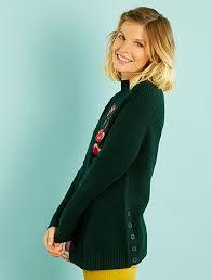 embroidered maternity sweater maternity green kiabi 25 00eur