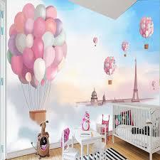 himmel kinderzimmer 3d wandbild himmel weiße wolken ballon kinderzimmer