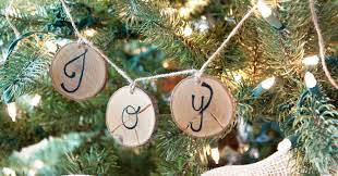 How To Make Adorable Wood Slice Christmas Ornaments Wood Slice Ornament Banners A Houseful Of Handmade