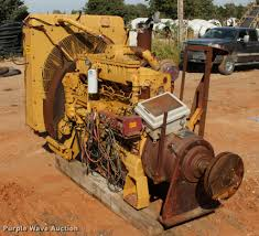 caterpillar 3406 six cylinder turbo diesel engine with clutc