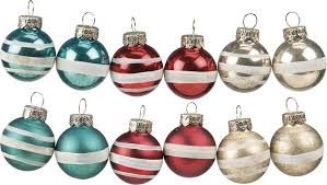 tree bulb ornaments retro style set of 12 bulbs