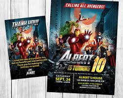 avengers invitation instant download avengers invitations