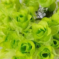 168 organza silk buds wedding artificial flowers bouquets