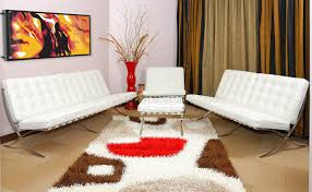 Tufted Leather Sofa Set by Mies Van Der Rohe Sofa Chair Button Tufted Leather Barcelona Style