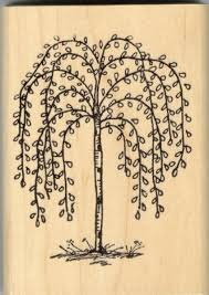 Willow Tree Home Decor Large Primitive Weeping Willow Tree Rubber Stamp Home Decor