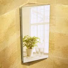 bathroom cabinets vasari stainless steel mirrored corner