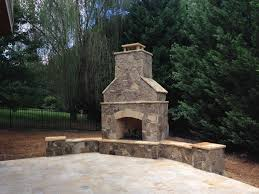 outdoor stone fireplaces by masters create that perfect ambiance