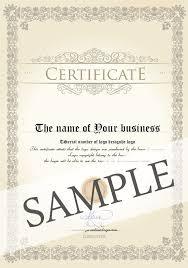 online design of certificate certificate of origin logo design license solo ownership