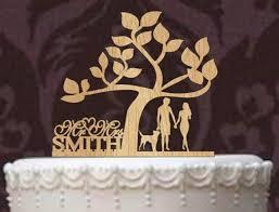 custom cake topper rustic wedding cake topper personalized cake topper