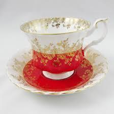 royal albert red tea cup and saucer regal series vintage tea cup
