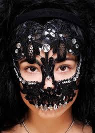 lace mask womens mexican black lace sugar skull mask 3442692646413 ebay