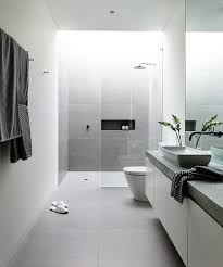 clean lines bathroom minimal grout yay canny builders lubelso